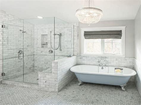 freestanding slipper bathtubs gray  blue bathroom