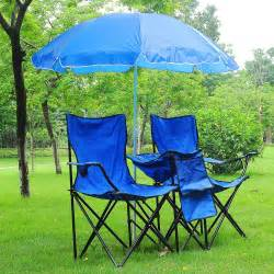 Folding Chairs With Umbrella by Folding Chair For 2 Person W Umbrella Carring Bag