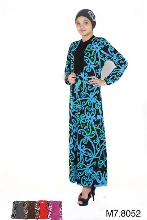 rayon print gamis batik motif escrava knit wear