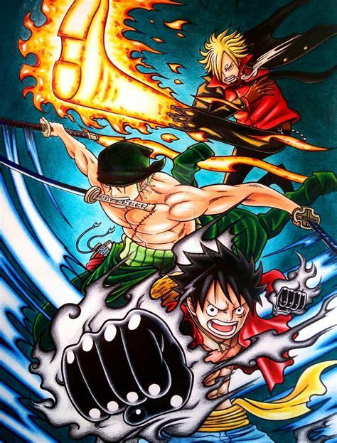 luffy zoro sanji  meliodas ban king battles