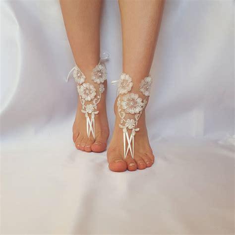 Frame Foto Sandal ivory silver frame barefoot wedding country wedding