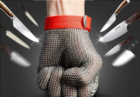 chainmail gloves for saw 316l stainless cut resistant proof gloves butcher