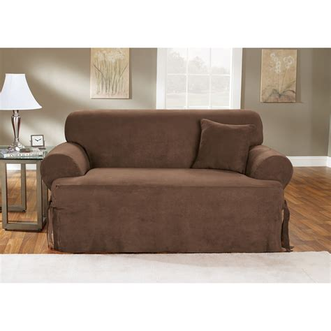 sofa cushion slipcovers sure fit soft suede t cushion sofa slipcover sofa
