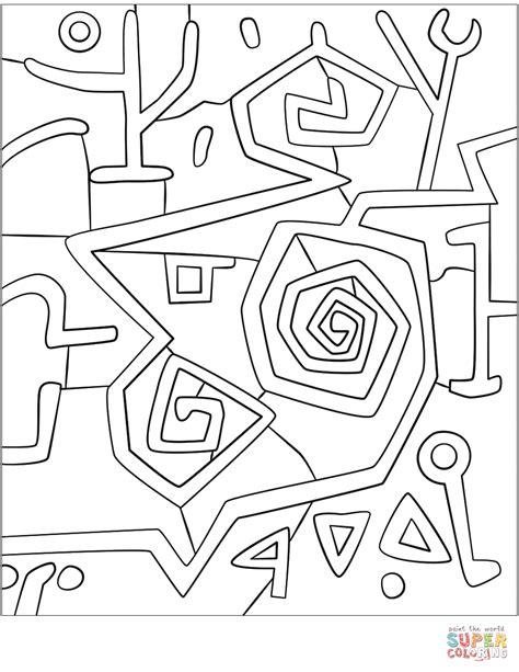 heroic roses by paul klee coloring page free printable