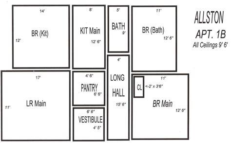 3 Room Floor Plan by Allston Pictures Floor Plans