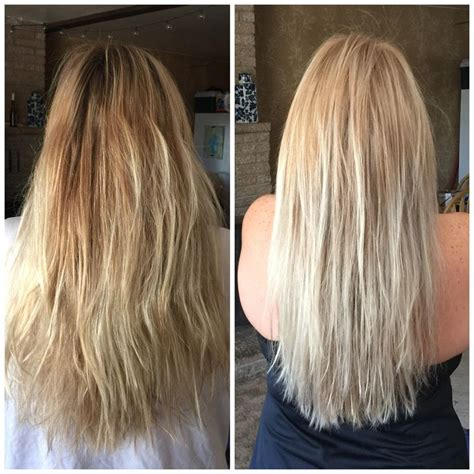 toner for bleached blonde hair before and after toning my own hair with wella toner t18