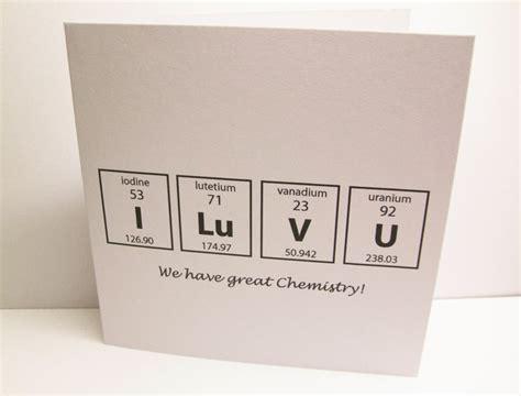 chemistry valentines day card s day card chemistry card folksy