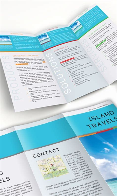 tri fold travel brochure template free 18 best brochure templates images on brochure