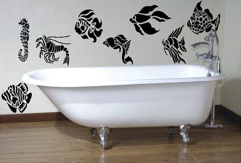 fish decals for bathroom 8 x fish stencil style wall art sticker decal bathroom ebay