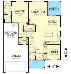 Empty Nester Floor Plans by 3 Bedroom Empty Nester House Plan 69573am 1st Floor