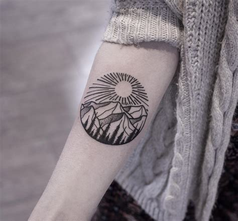 mountain wrist tattoo 24 black and white designs ideas design trends