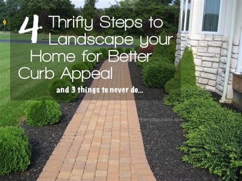 Landscape Design Pictures For Small Yards 4 Thrifty Steps To Landscape Your Home For Better Curb