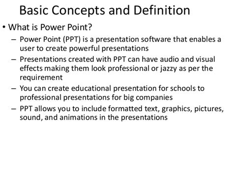 powerpoint tutorial definition introduction to microsoft powerpoint 2003