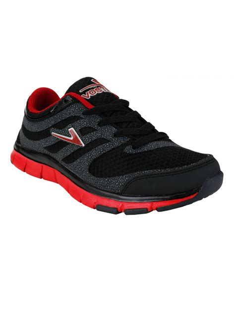 athletic shoe brand crossword vostro black sports shoes for vss0043