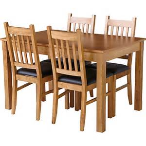 hygena cucina extending dining table and 4 chairs oak