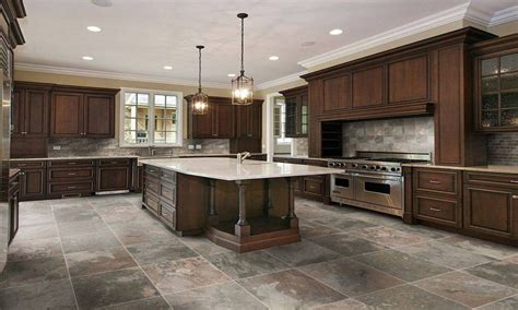 Tile Designs For Kitchens Best Kitchen Floor Tile Ceramic Tile Kitchen Flooring Ideas With Center Island Also Hanging