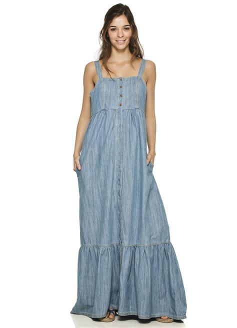 Dress Denim Onde by Vestido Longo Abertura Frente Cant 227 O Lugares Por