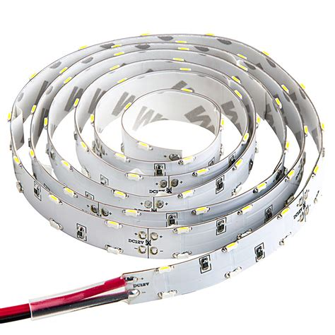 12v led tape dual row led strip lights with pigtail connector 12v led