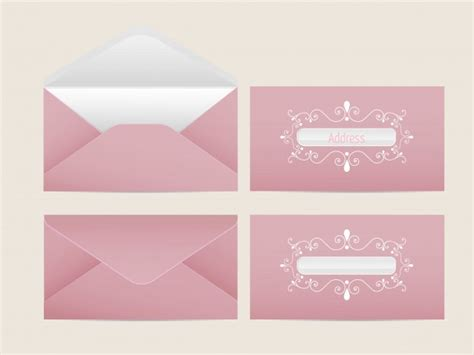 printable envelope vector vector mail envelope blank paper envelopes for your