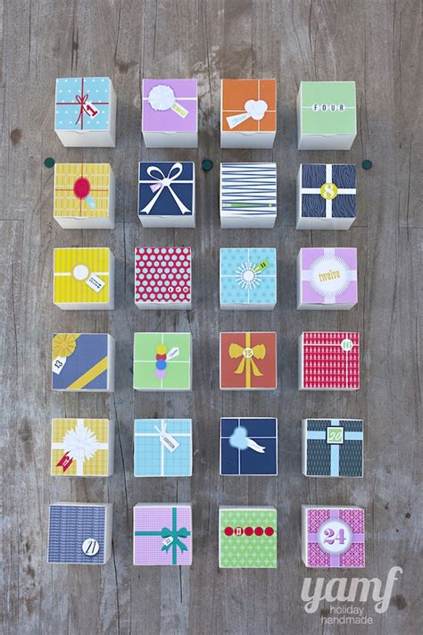 printable advent calendar boxes a gift advent and the first day of holiday handmade are