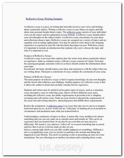 reflective essay sles free introduction about education essay writing