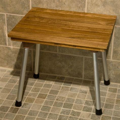 folding teak shower bench signature hardware teak folding shower bench ebay