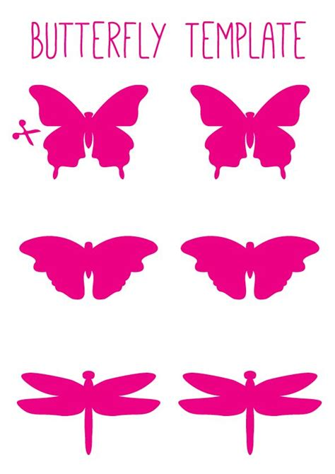 free printable butterfly wall art butterfly trail stencil clipart best