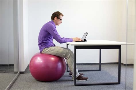 office chair  exercise ball  sitting