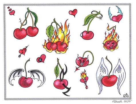cherries flash by tattoosavage on deviantart