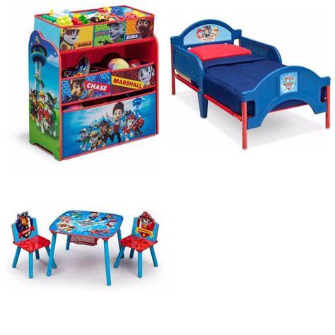 paw patrol bed toddler bedroom set furniture paw patrol 3 piece bed toy