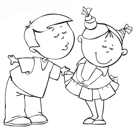 girl  boy coloring pages    print