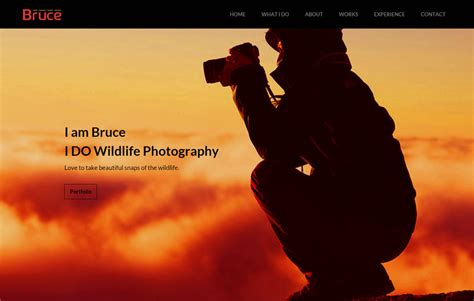 bootstrap photography template bruce photography free bootstrap template webthemez