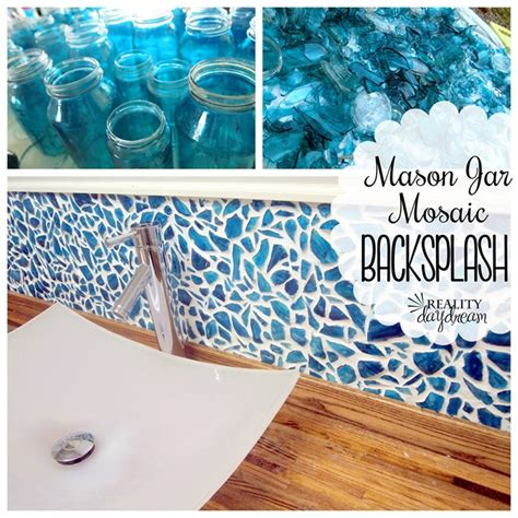 diy mosaic backsplash jar mosaic backsplash reality daydream