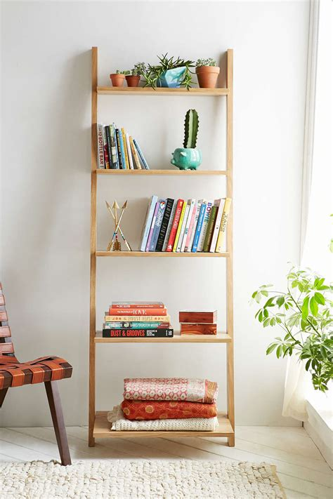 leaning bookshelf design possibilities casual with a