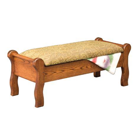 sleigh bench sleigh storage bench shipshewana furniture co