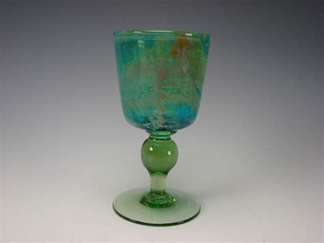 wine glass without stem vintage signed mdina dobson wine glass stem goblet fine