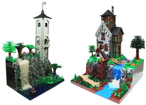 lego waterfall tutorial the classic castle dot com featured moc archive