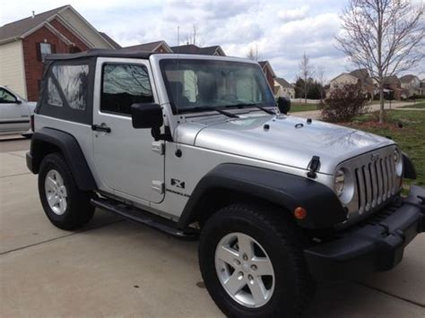 sell used 2008 jeep wrangler x sport 4x4 soft top 3 8 v 6 auto cc tilt a c ex condition in fort