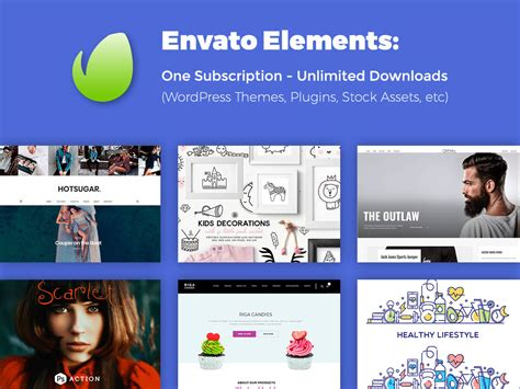 themes wordpress envato envato elements one subscription unlimited downloads