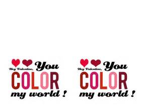 you color my world ruffled you color my world