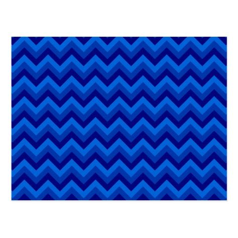zig zag pattern blue blue zig zag pattern postcard zazzle