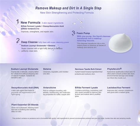 Dna Detox Cleanse by Narcissus Dna Repairing Makeup Removing Cleansing Mousse