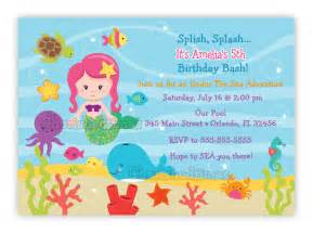 under the sea birthday invitation choose mermaid you print
