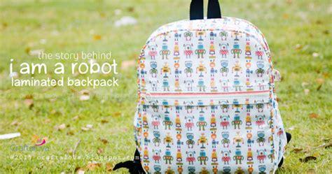 Bisban Satin Isi Piping Peralatan Jahit craftalova the story quot i am a robot quot laminating backpack