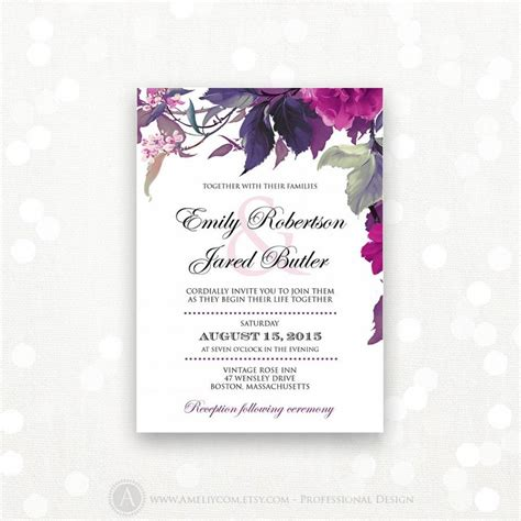 Wedding Invitations Purple by Printable Wedding Invitation Kits Purple Matik For