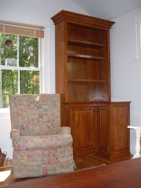 custom cherry corner bookcase by ken dubrowski artisan s