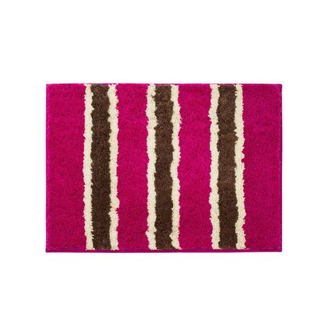 home depot bathroom rugs bathtopia ace fuchsia 16 in x 24 in bath rug ymb002322 the home depot