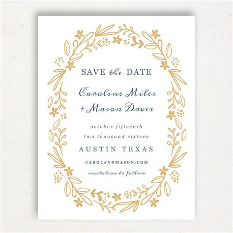 save a date template printable save the date template instant