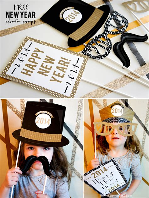 new year photo props free printable new year photo props i nap time