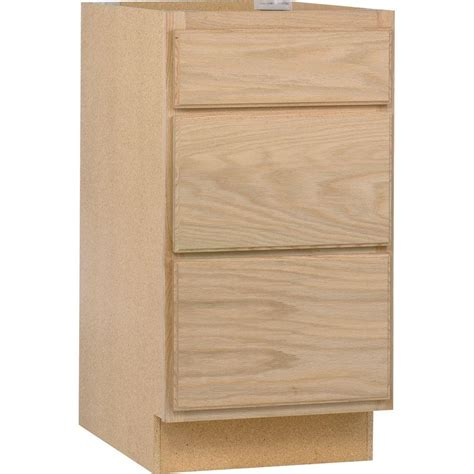 kitchen cabinets at home depot unfinished oak white in assembled 18x34 5x24 in base kitchen cabinet with 3